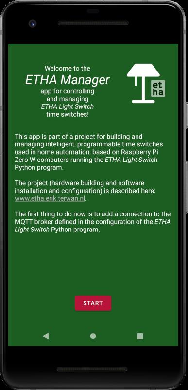App manual – Initial setup and adding an MQTT broker – ETHA Light Switch